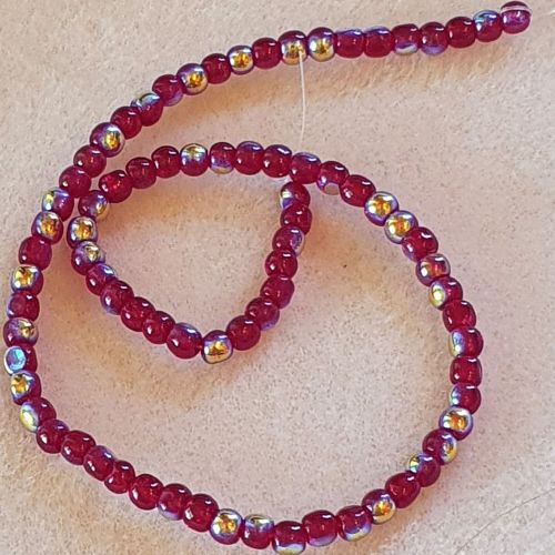 Red Colour Round 4mm Beads