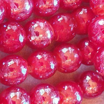Red Luster Lampwork 14mm Bead