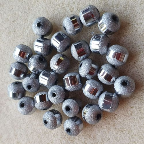 Silver Electroplated 6mm Beads
