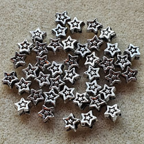 Silver Star Beads