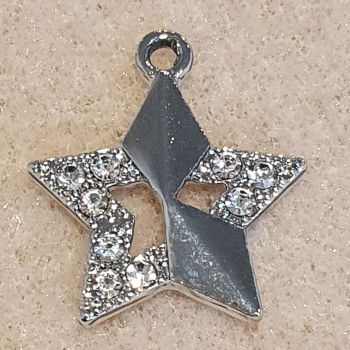 Star Rhinestone Enamel Pendant