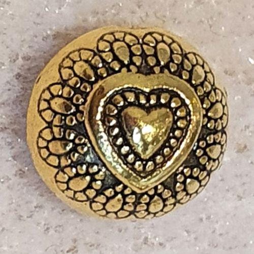 Round Heart Bead