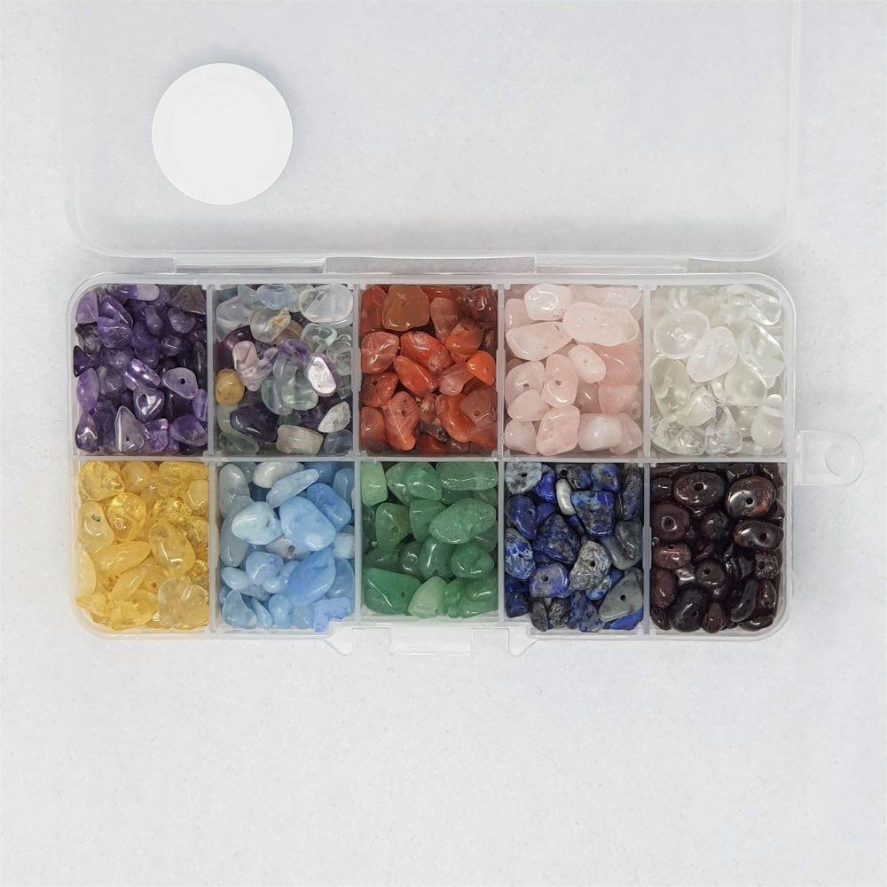 Box of Chakra Gemstone Beads