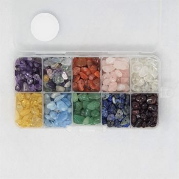 Box of Chakra Gemstone Beads