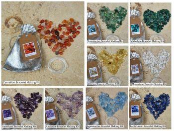 DIY Gemstone Crystal Chip Bracelet Making Kit