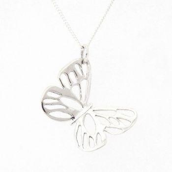 Fretwork butterfly pendant