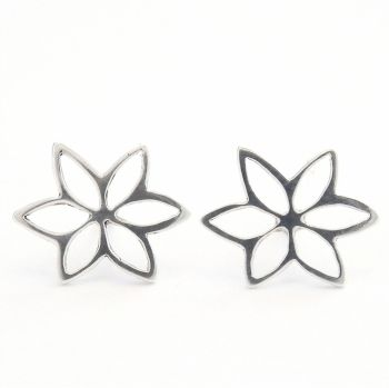 Fretwork flower earrings