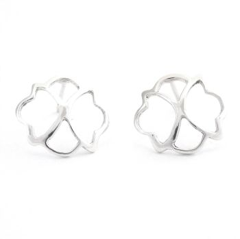 Fretwork circle earrings