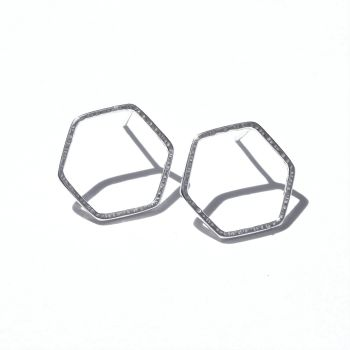 Medium Hexagon studs