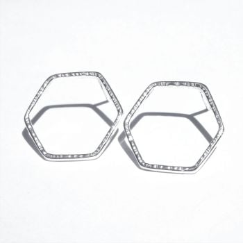 Large Hexagon studs