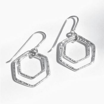 Large double Hexagon hooks - flexible