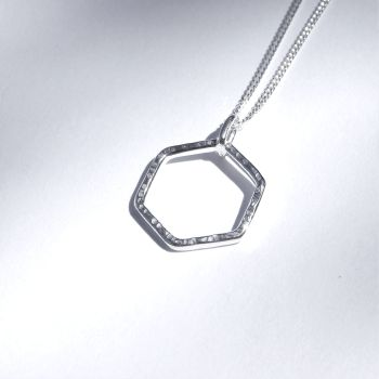 Small hexagon pendant