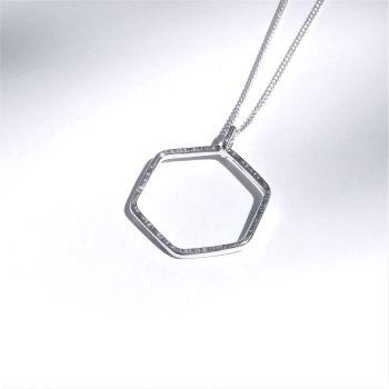 Medium hexagon pendant