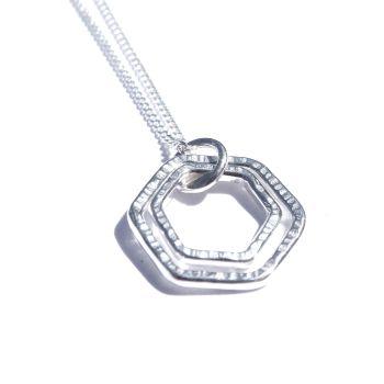 Medium double hexagon pendant