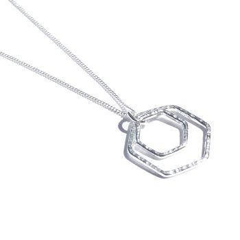 Large double hexagon pendant