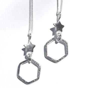Starry hexagon pendant