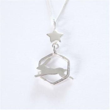Starry Hare pendant