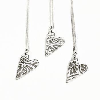 Paisley heart pendant