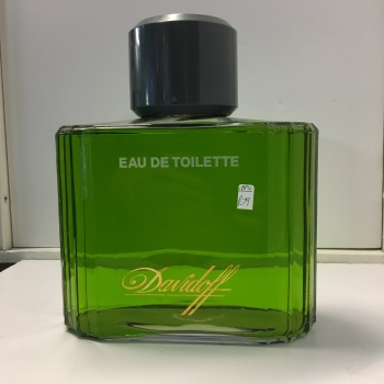 Davidoff oversized display bottle - glass - unopened.