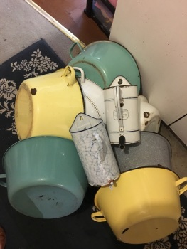 Enamel ware - basins etc