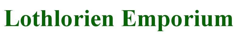 Lothlorien Emporium, site logo.