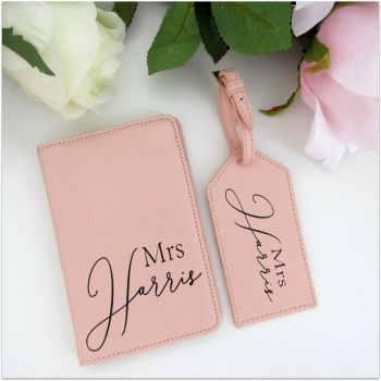Personalised MRS Luxury Travel Accessories Set