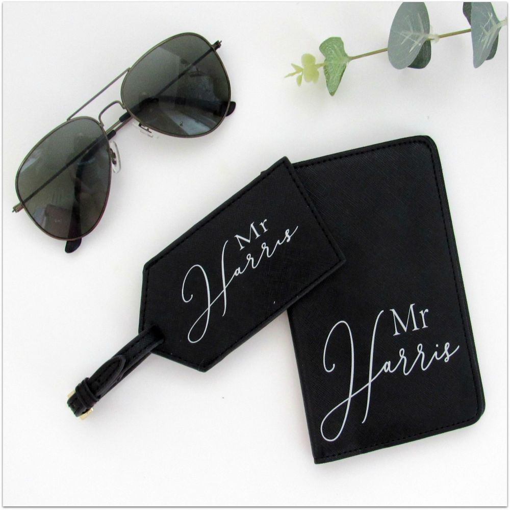 Personalised MR Luxury Travel Accessories Set