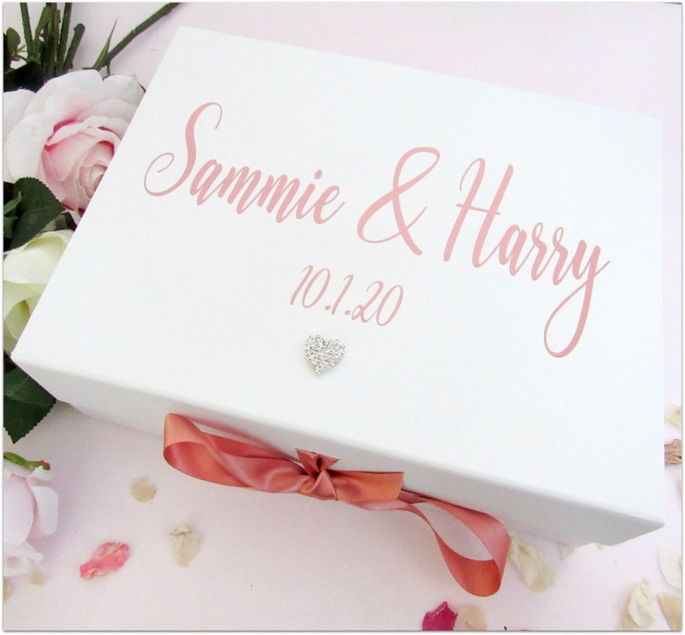 A4 Large Deep Personalised Wedding Day Keepsake Memory Box...New Size