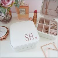 Personalised With Initials Travel Jewellery Box