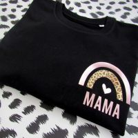 """Rainbow MAMA"" Women's Slogan Organic Cotton Short Sleeve Tee"