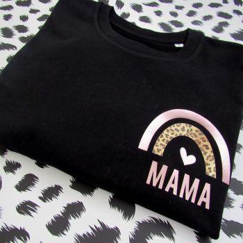 """""""Rainbow MAMA"""" Women's Slogan Organic Cotton Short Sleeve Tee"""