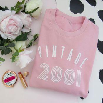 Vintage Year Women's Slogan Sweatshirt Jumper
