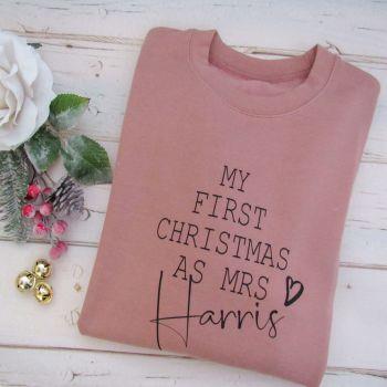 My First Christmas As Mrs...Personalised Sweatshirt Jumper