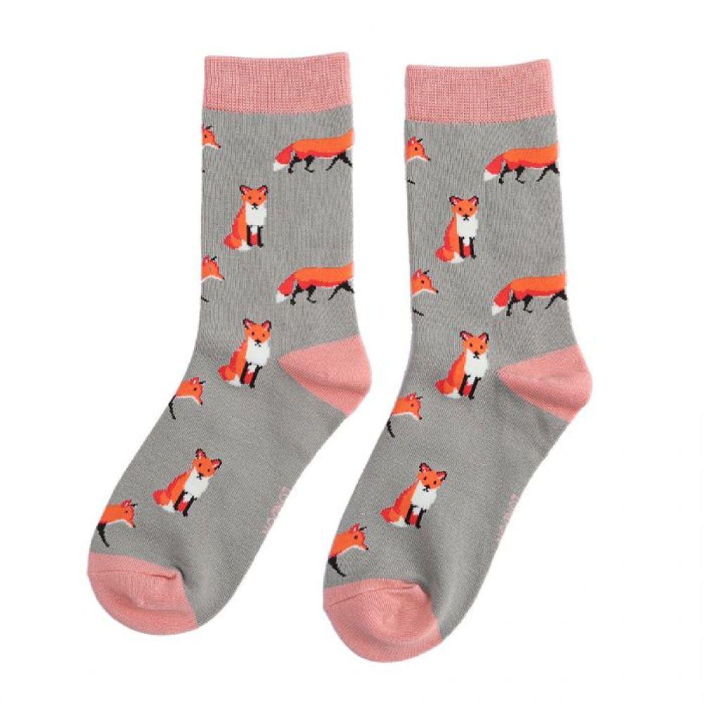 Cute Pair Of Fox Socks...Make A Gorgeous Christmas Gift