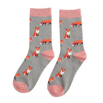 Cute Pair Of Fox Socks...Make A Gorgeous Christmas Gift