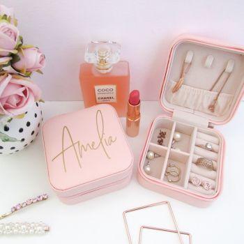 Personalised Travel Jewellery Box