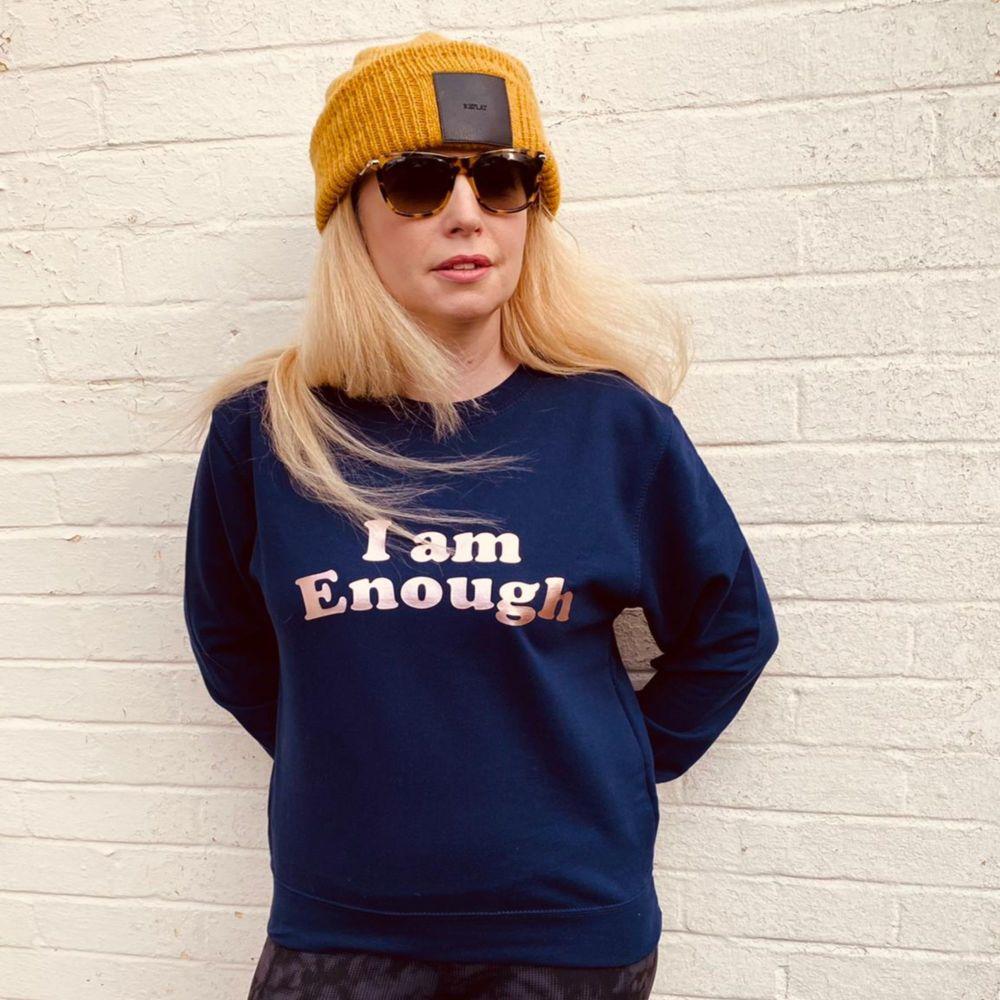<!-- 001 --> I Am Enough Women's Slogan Sweatshirt Jumper
