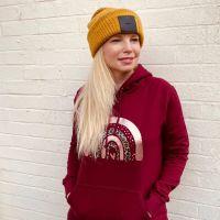 """<!-- 002 -->""""Dotty & Leopard Print"""" Women's Hooded Sweatshirt"""