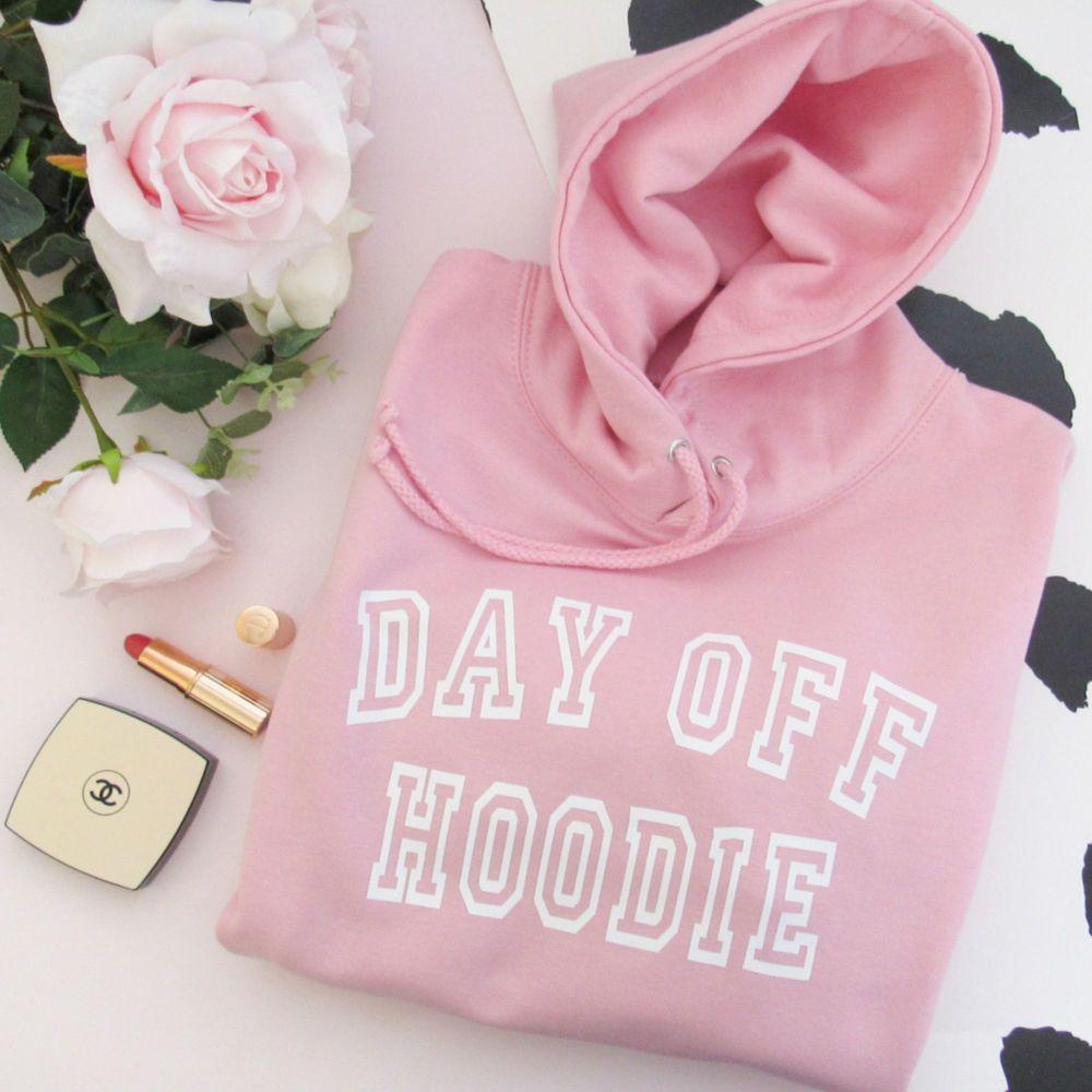 <!-- 001 -->DAY OFF HOODIE Women's Slogan Hooded Sweatshirt
