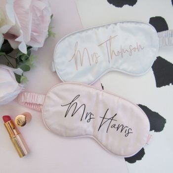 Personalised Satin Sleep Eye Mask