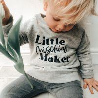 """<!-- 002 -->""""Little Mischief Maker"""" Children's Organic Sweatshirt"""