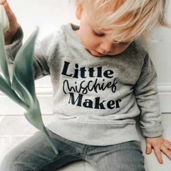 """Little Mischief Maker"" Children's Organic Sweatshirt"
