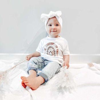 Dotty, Leopard Print & Rainbow Baby Girl's Organic Cotton Short Sleeve Tee