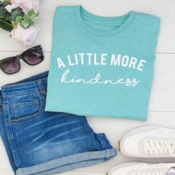 """SUMMER SALE  """"A Little More Kindness"""" Women's Organic Cotton Short Sleeve Tee..Limited Edition Colour"""