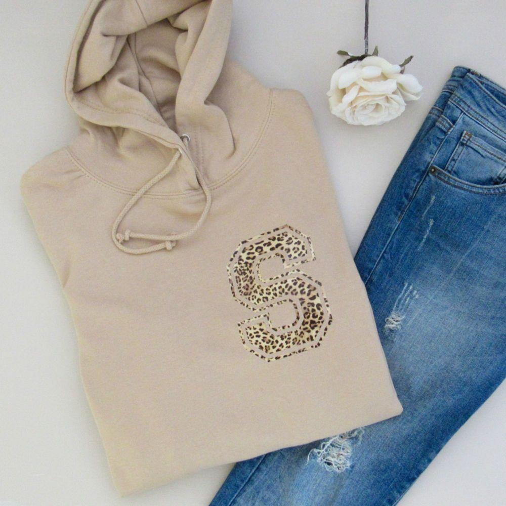 <!-- 002 --> Varsity Letter Personalised Women's Hooded Sweatshirt