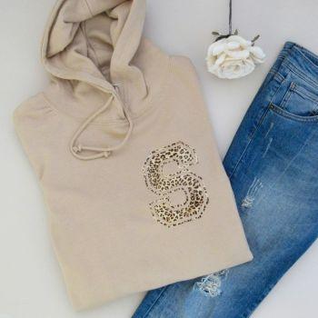 Varsity Letter Personalised Women's Hooded Sweatshirt