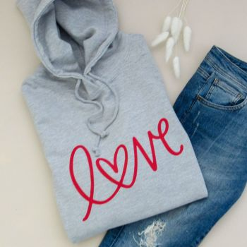 """LOVE"" Women's Slogan Hooded Sweatshirt"