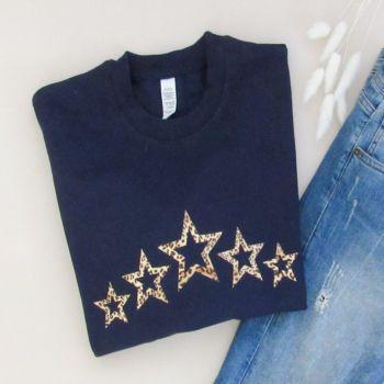 """Row Of Open Stars"" Women's Unisex Sweatshirt Jumper"