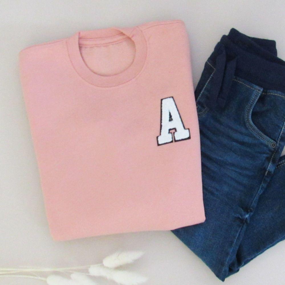 <!-- 000 -->Personalised Initials Patch Kids Sweatshirt