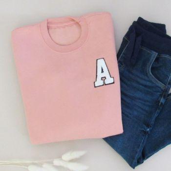Personalised Initials Patch Kids Sweatshirt